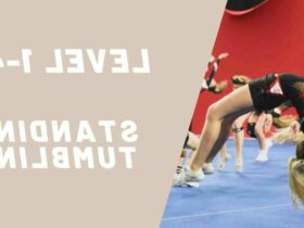 What are the two examples of tumbling in cheerleading?